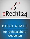 eRecht24 Disclaimer Siegel